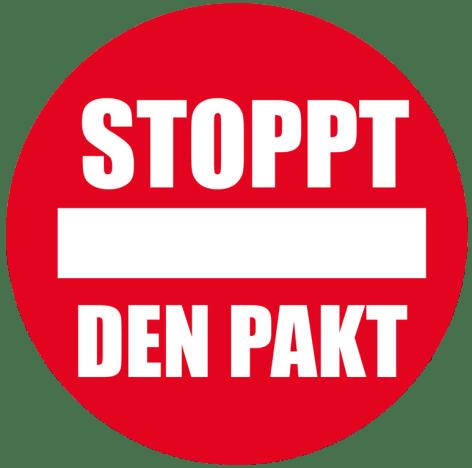 logo stoppt den pakt