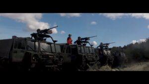 Unsere Soldaten üben für den Ernstfall. Die Stgw 90 sind justiert und die MG's sind schussbereit.