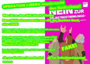 OPERATION LIBERO missbraucht den Rütlischwur!